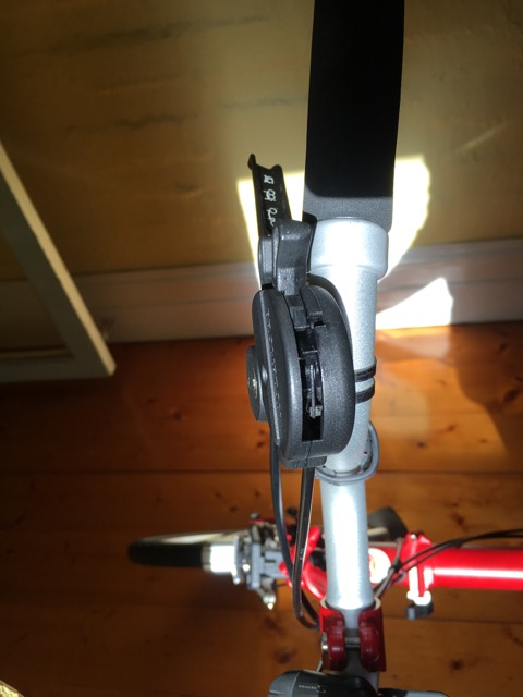 Right-side Brompton Gear shift - don't forget to oil this cable even now and then
